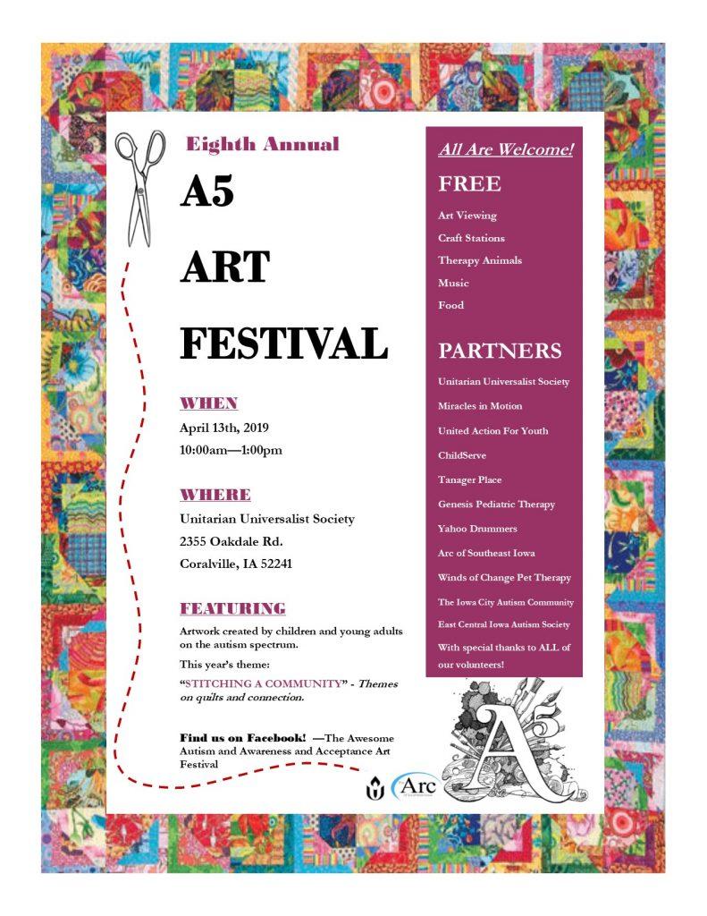 The A5 Art Festival @ Unitarian Universalist Society