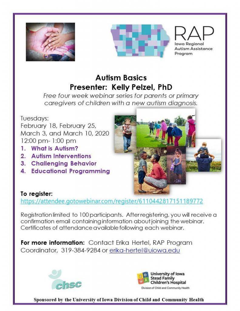 Autism Basics - Presented by Kelly Pelzel, PhD